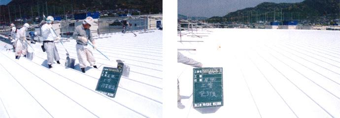 株式会社東海理化 音羽工場屋根遮熱塗装工事4